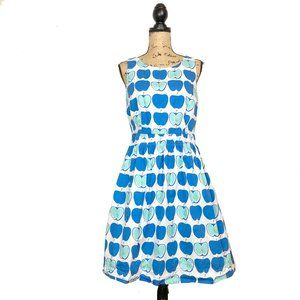 Boden Beatrice Apple Print Day Dress 8R